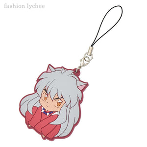 Red Rubber Inuyasha Keychains