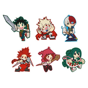 Rubber My Hero Academia Medieval Style Keychains