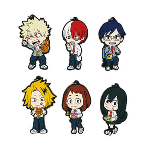 Rubber My Hero Academia Keychains