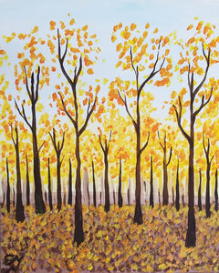 Autumn Forest Paint Night - Essex Paint and Sip