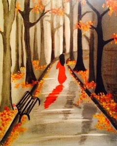 Autumn Walk Paint Night - Essex Paint and Sip