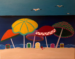 Beach Day Painting - Essex Paint and Sip