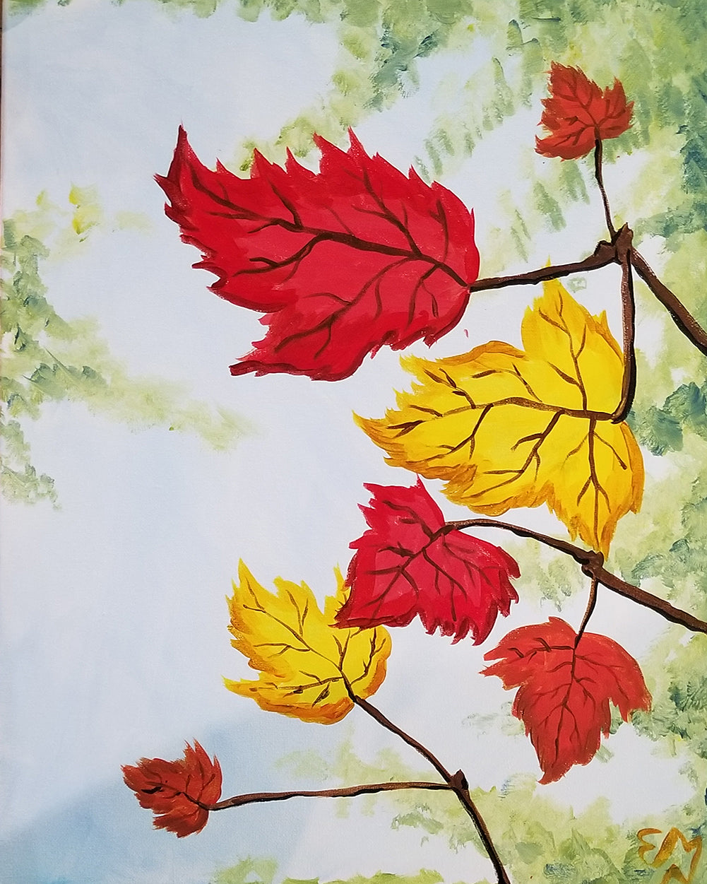 Fall Foliage Paint Night - Essex Paint and Sip