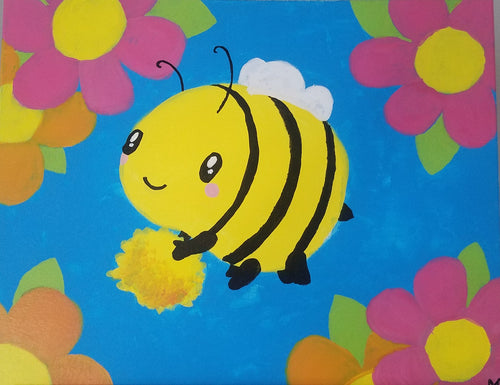 Busy Bumble Bee Painting - Essex Paint and Sip