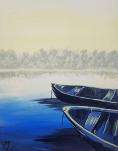 Calm Canoes Painting - Essex Paint and Sip