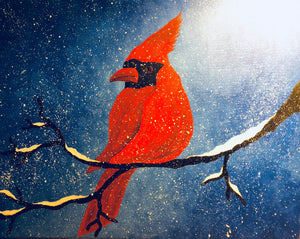 Cardinal Visit Paint Night - Essex Paint and Sip