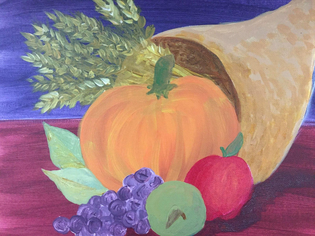 Thanksgiving Cornucopia Paint Night - Essex Paint and Sip