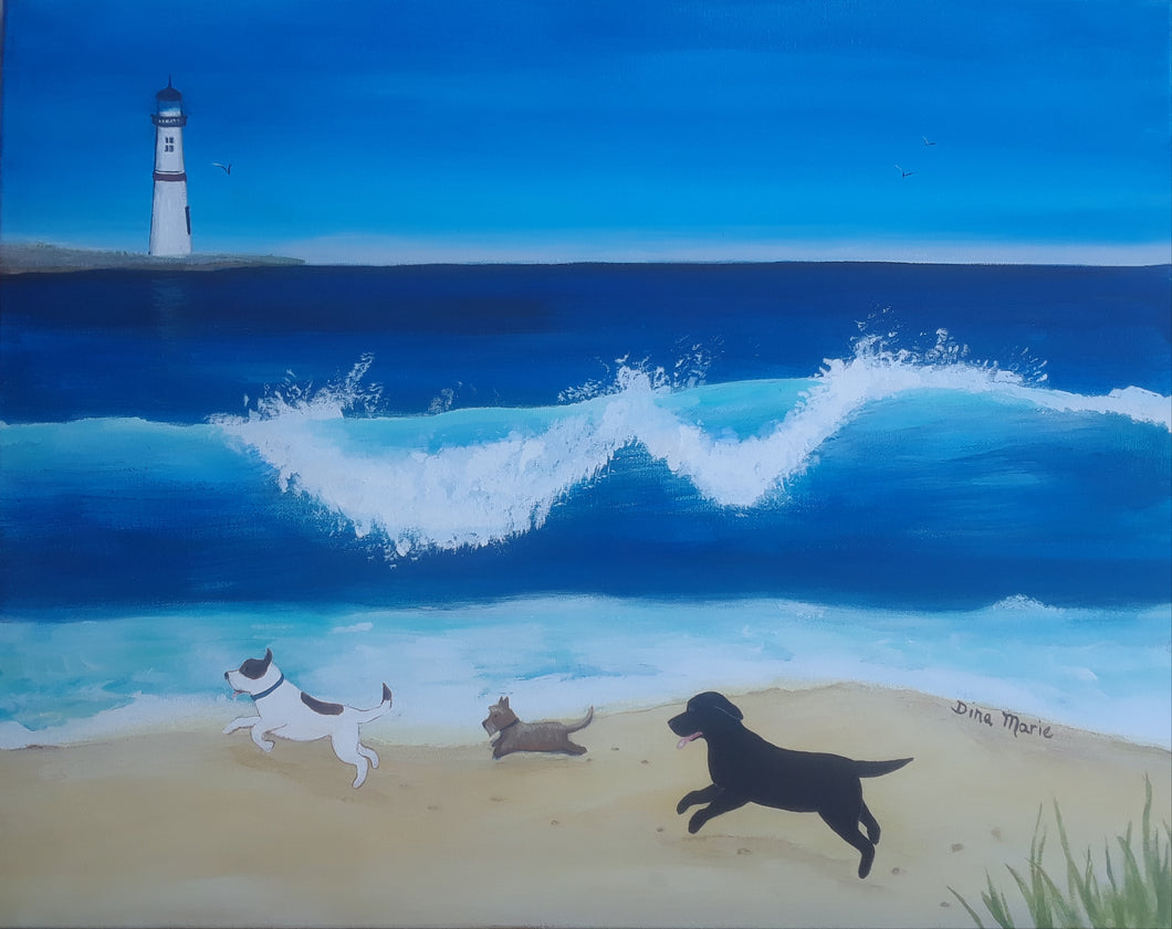 Dog Beach Painting - Essex Paint and Sip