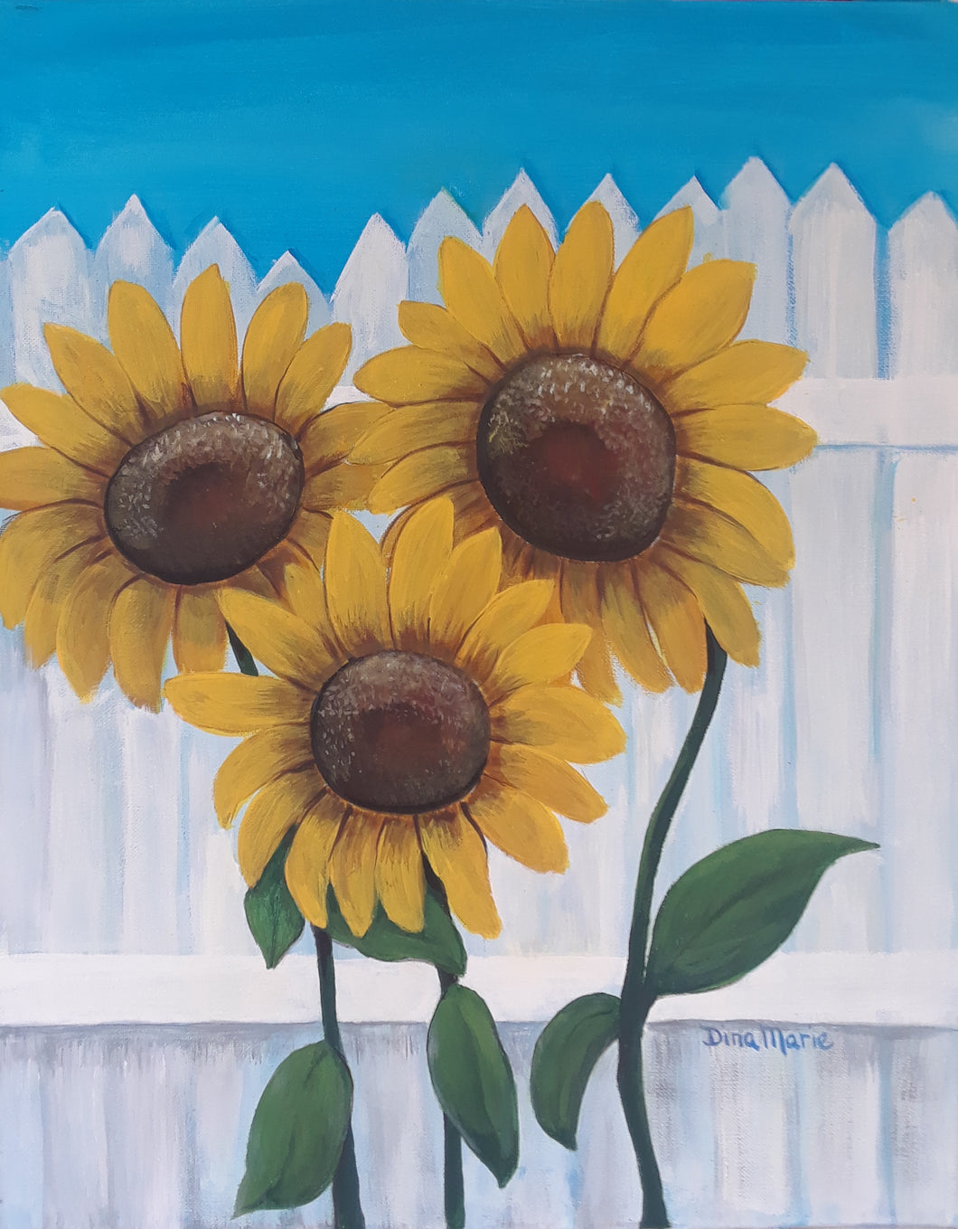 Coffee Hour - Sunflowers Painting - Essex Paint and Sip