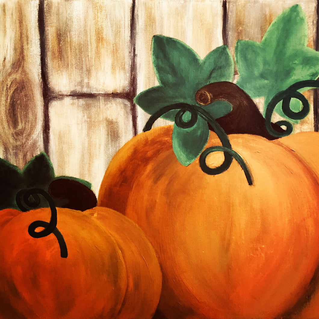 Coffee Hour Harvest Pumpkins Painting - Essex Paint and Sip