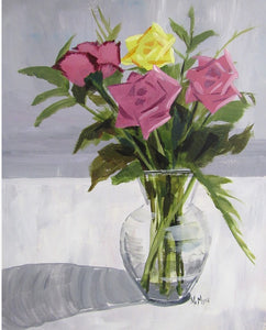 Rose Vase Painting - Essex Paint and Sip