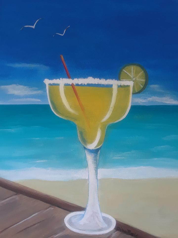 Margarita Afternoons Painting - Essex Paint and Sip