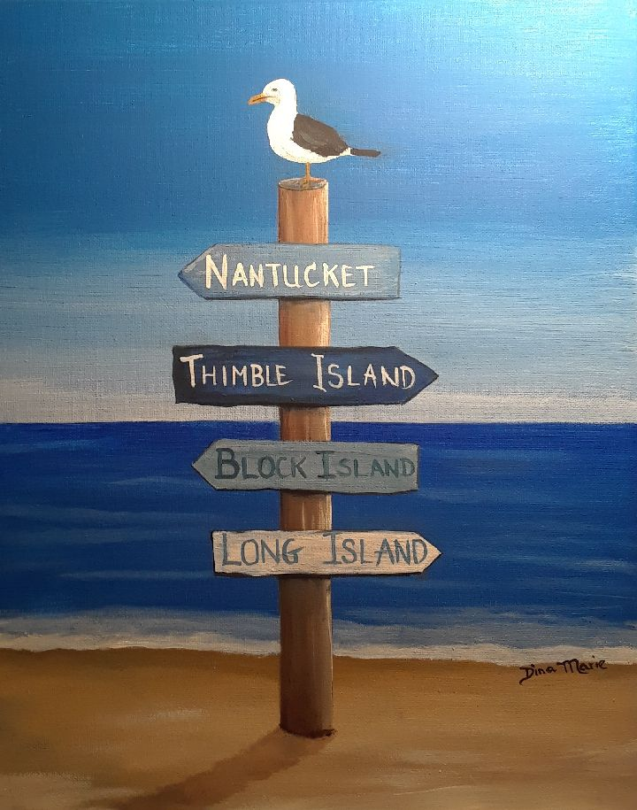 Which Way to the Beach? Paint Night - Essex Paint and Sip