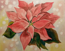 Poinsettia Sparkle Paint Night - Essex Paint and Sip