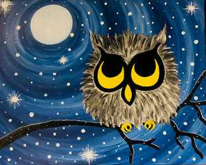 Snow Owl Paint Night - Essex Paint and Sip