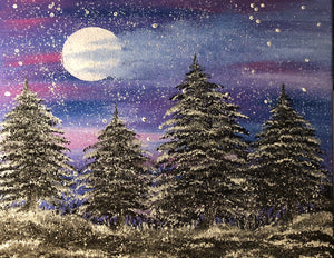 Winter Pines Painting - Essex Paint and Sip