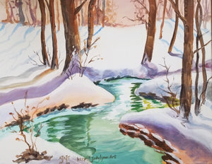 Snowy River Painting - Essex Paint and Sip
