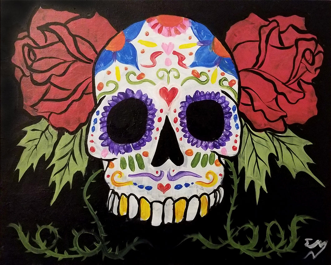 Sugar Skull Paint Night - Essex Paint and Sip