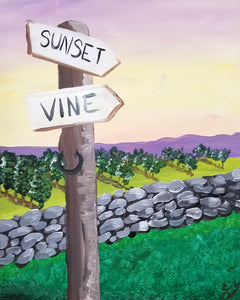 Sunset Hill Vineyard Wine Tasting and Paint Night - Essex Paint and Sip