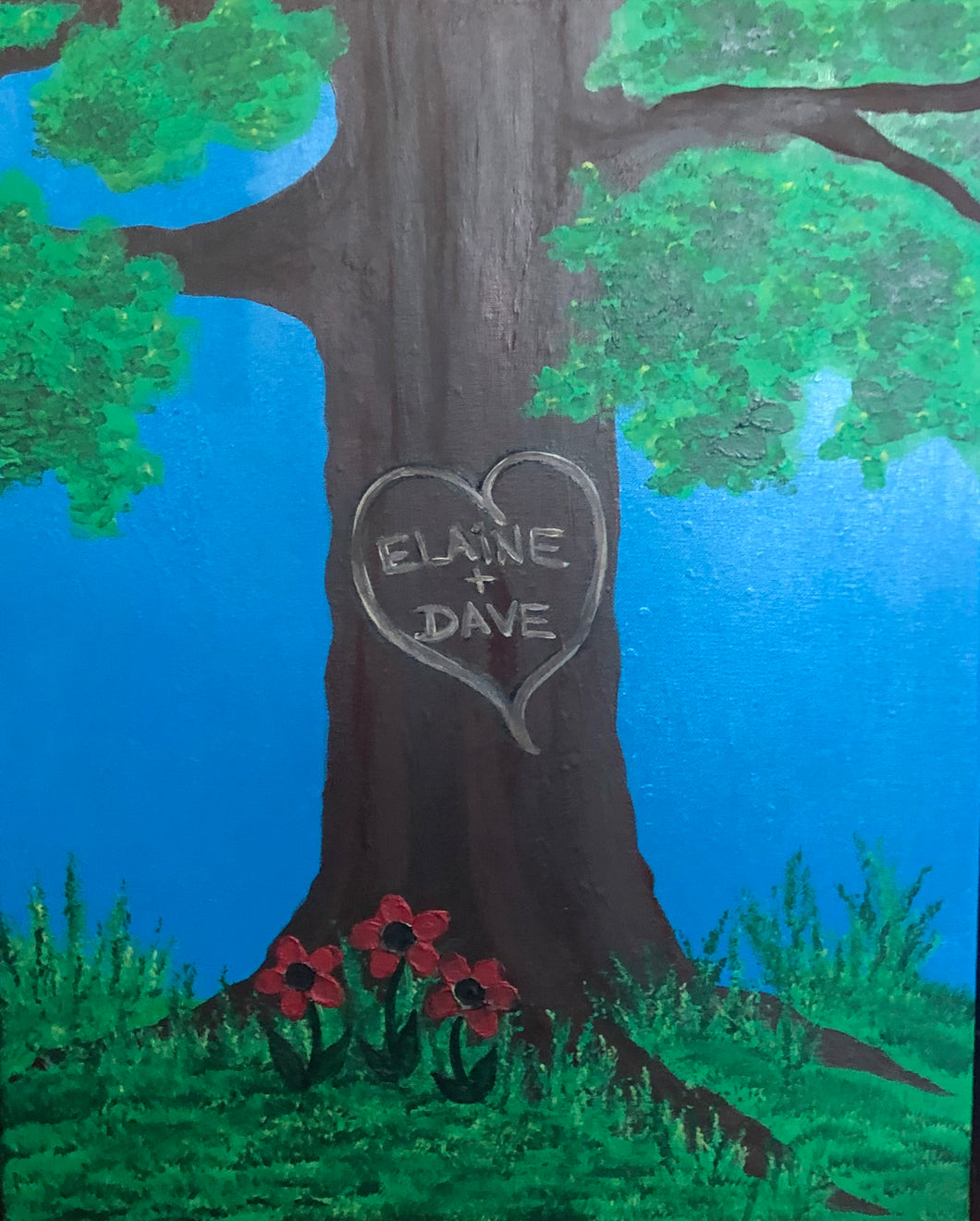 Sweetheart Tree Painting - Essex Paint and Sip