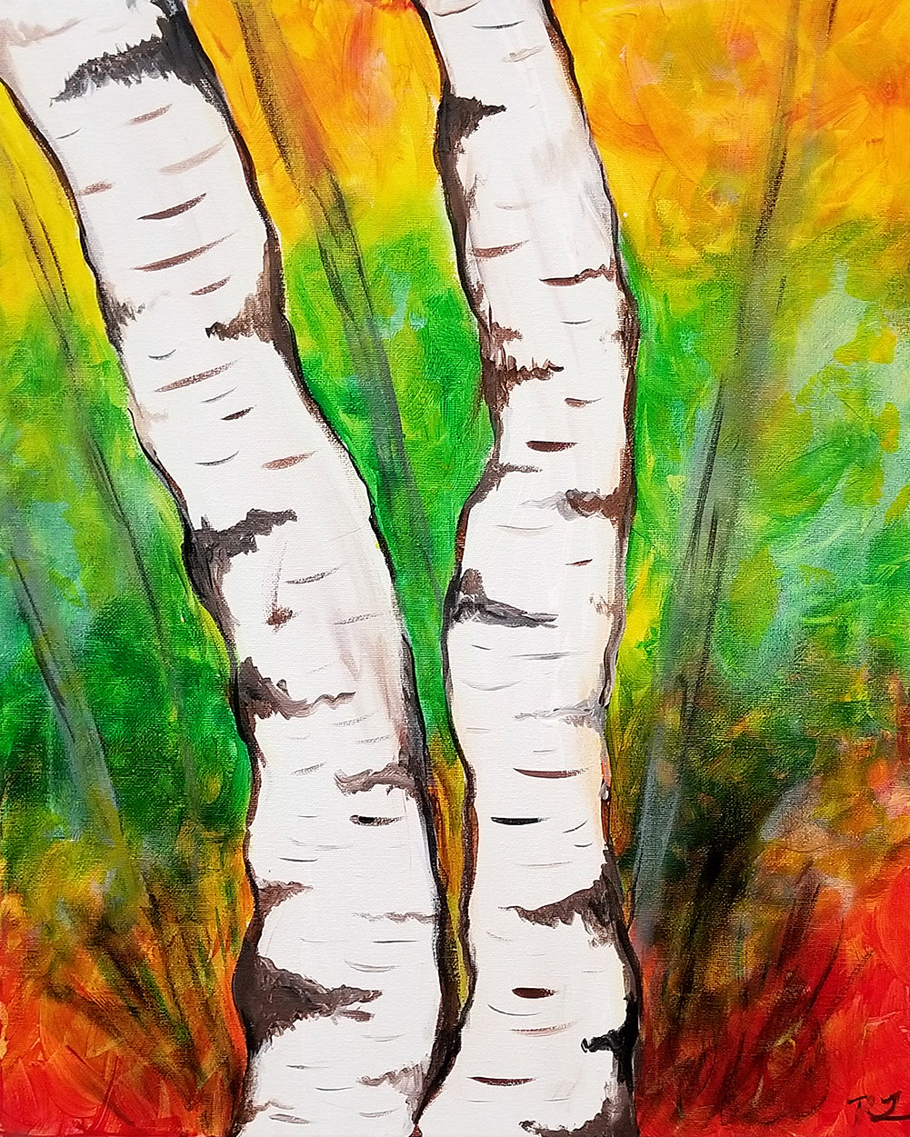 White Birch Paint Night - Essex Paint and Sip
