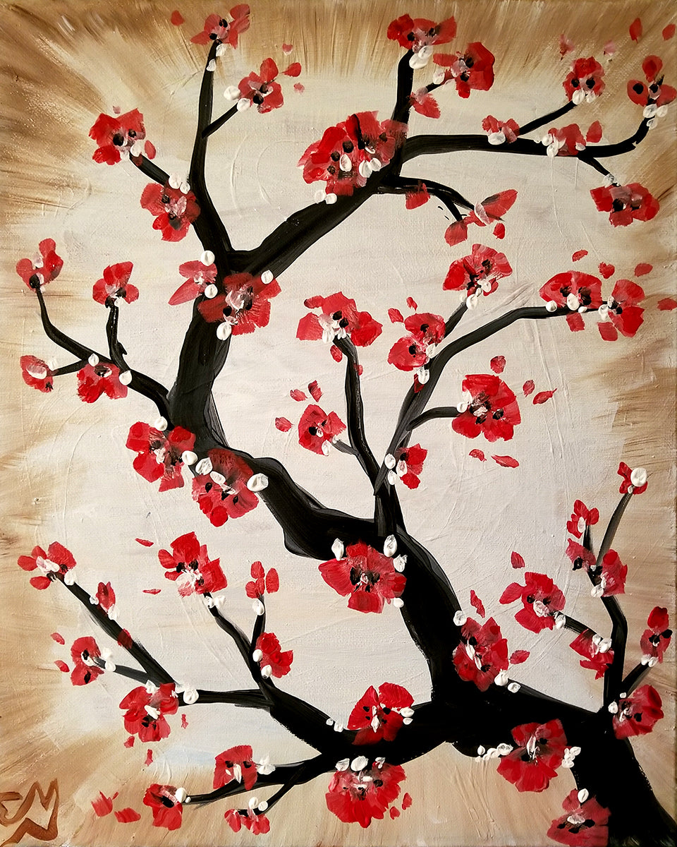 Cherry Blossom Paint Night - Essex Paint and Sip