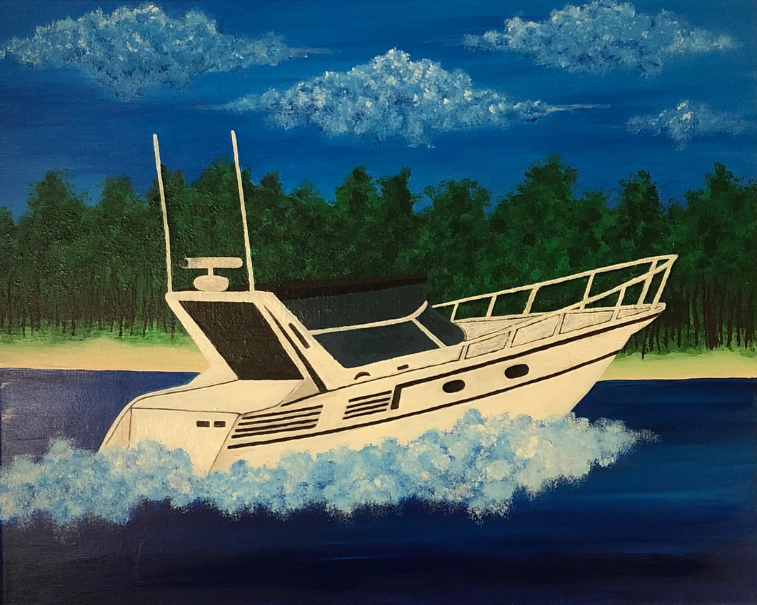 Paint Your Boat Paint Night - Essex Paint and Sip