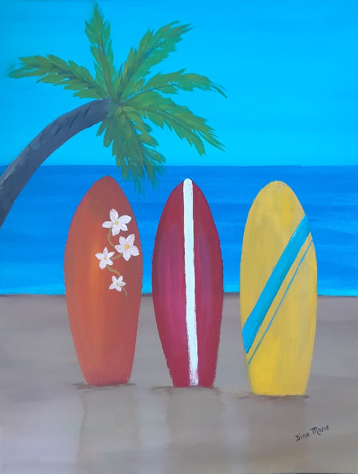 Surfing USA Paint Night - Essex Paint and Sip