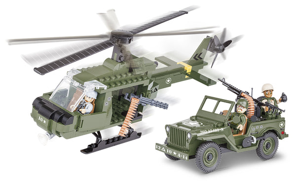 Willys MB Jeep With Helicopter