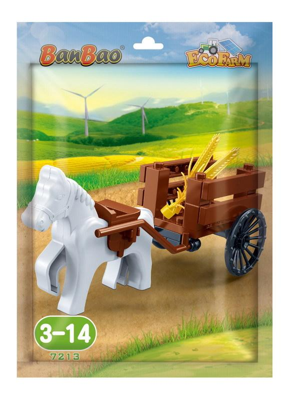 Mini Series - Eco Farm Horse & Wagon