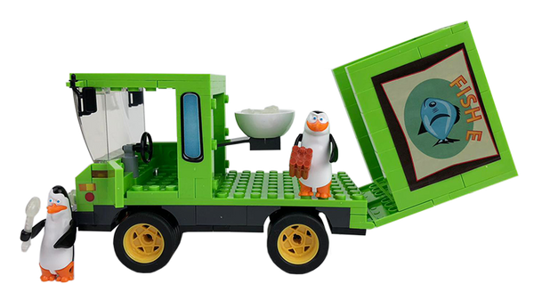 Penguins Of Madagascar- Fish-E Delivery Truck