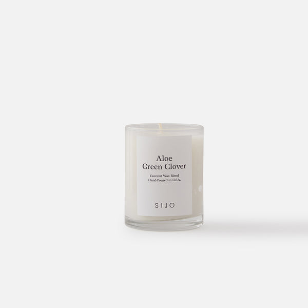 Aloe Green Clover Candle