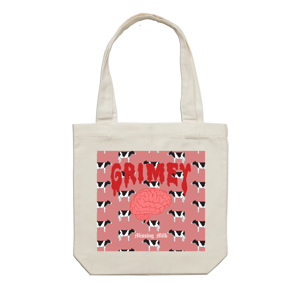 Grimey 'Missing Milk' Tote Bag
