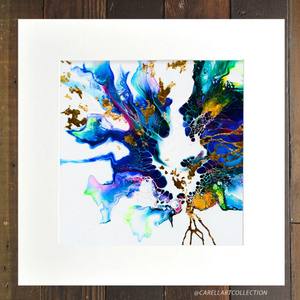 Connection viii 24K Gold Embellished Archival Print