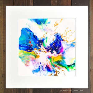 Connection xix 24K Gold Embellished Archival Print