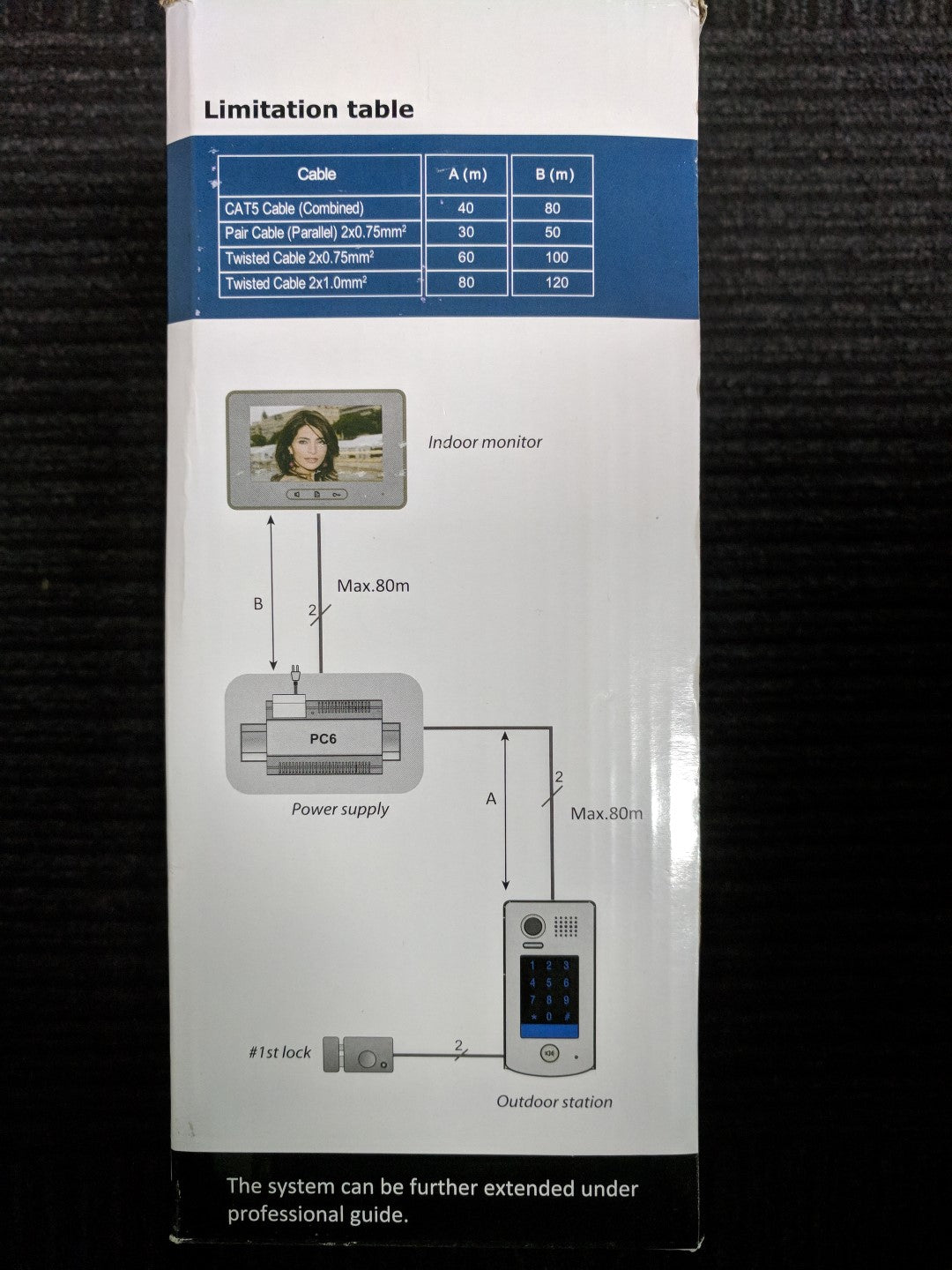 2 Wire Video Intercom W Keypad Kit Fvi 6020 Fermax Australia Wiring Diagram For