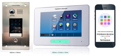 2-Wire IP App Video Intercom w. Keypad Flush Kit [FVI-6030APP]