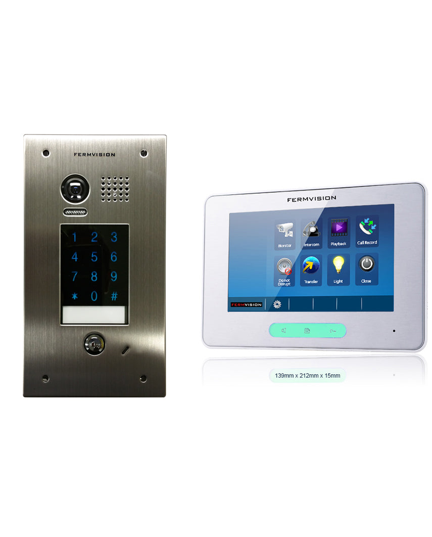 2-Wire Video Intercom w. Keypad Flush Kit [FVI-6030] on