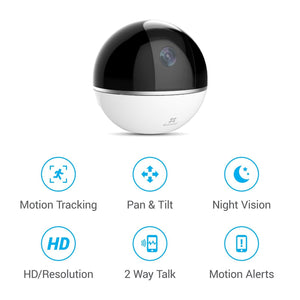 EZVIZ C6T - Mini 360 Plus 1080p Wifi Pan/Tilt Security Camera
