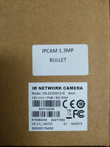 1.3 MP IP Bullet Camera [DS-2CD2212-I5 6mm]