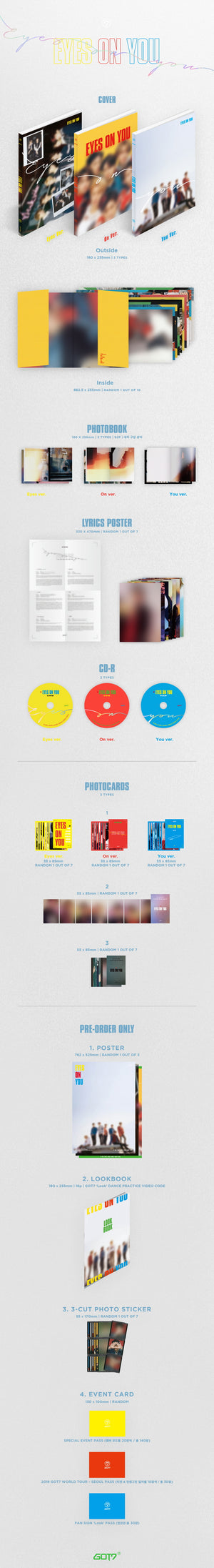 [GOT7] 8TH MINI ALBUM - EYES ON YOU - Kpop FTW
