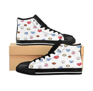 BTS BT21 Hightop Sneakers - Back To School Shoes - Kpop FTW