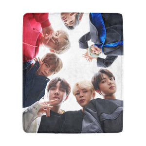 [BTS] Cute Close Up Face Blanket - Kpop FTW