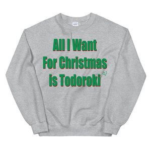 "My Hero Academia Inspired ""All I Want For Christmas is Todoroki"" Sweater BNHA Christmas Gift / Christmas Sweater Anime Shirt - Kpop FTW"