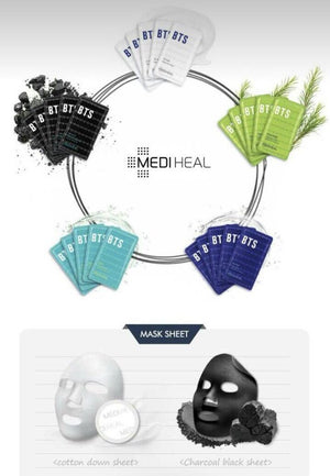 [BTS] X MEDIHEAL COLLAB - SKIN CARE FACE MASKS - Kpop FTW