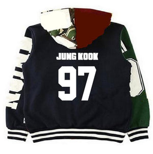 [BTS] HOODED BOMBER JACKET - Kpop FTW