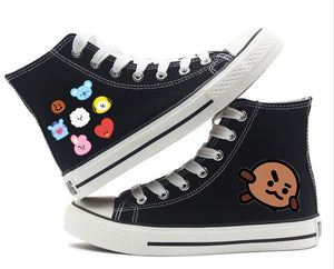 [BTS] BT21 HIGH TOP SHOES