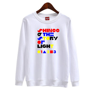 SHINee 'The Story of Light' Text Graphic Pullover - Kpop FTW