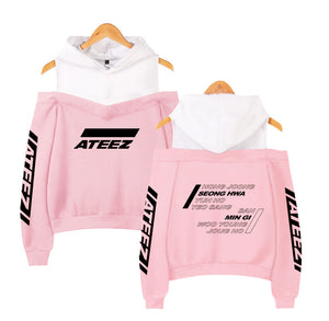 [ATEEZ] OFF-SHOULDER HOODIE SWEATSHIRT - Kpop FTW