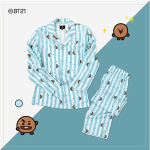 [BTS] BT21 OFFICIAL PAJAMAS SET- Limited Stock - Kpop FTW